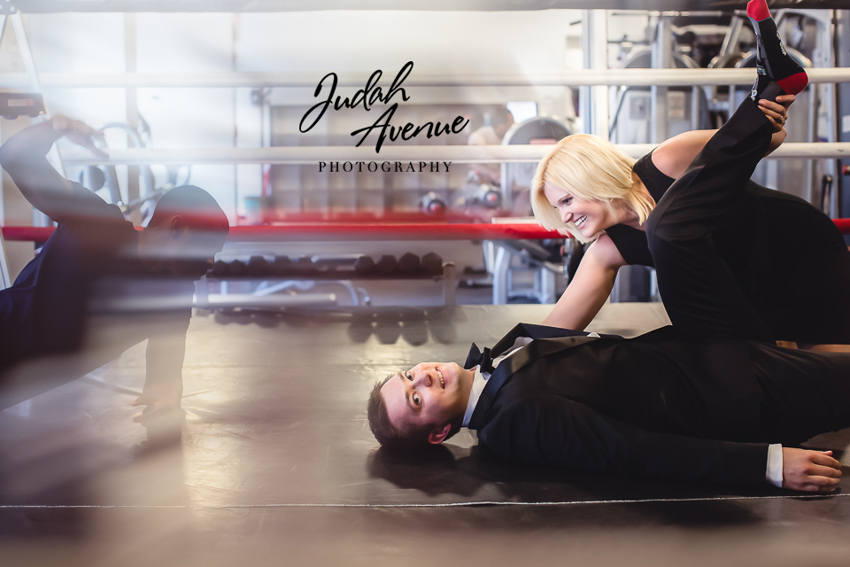 Emily and Dave star wars wwe spiderman themed engagement photographer in maryland virginia washington dc